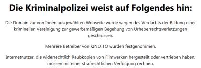 Schlag gegen kino.to – Für Filesharer wird es eng