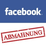 Erste Abmahnung eines Profils auf Facebook, das nicht als gewerblich erkennbar ist
