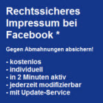 Gegen Abmahnungen auf Facebook absichern mit der LHR-Impressum-App