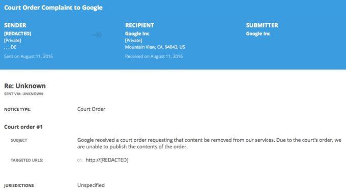 Google Suchergebnis löschen
