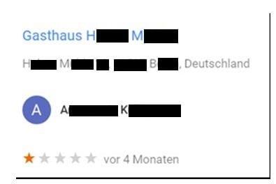 Google-Sterne löschen lassen