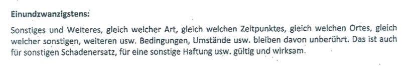 Salvatorische Klausel für Reichsbürger
