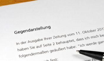 BVerfG: Anspruch auf Gegendarstellung trotz fehlender Stellungnahme