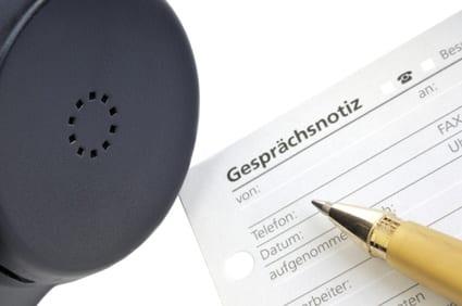 DSGVO:Telefon- und Gesprächsnotizen sind personenbezogene Daten