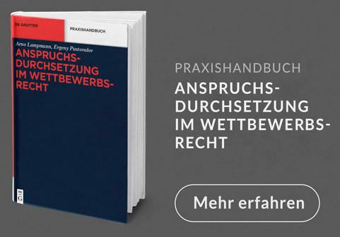 Anspruchsdurchsetzung im Wettbewerbsrecht: Das Handbuch für Praktiker