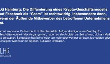 LG Hamburg verbietet Betrugsvorwürfe auf Facebook durch